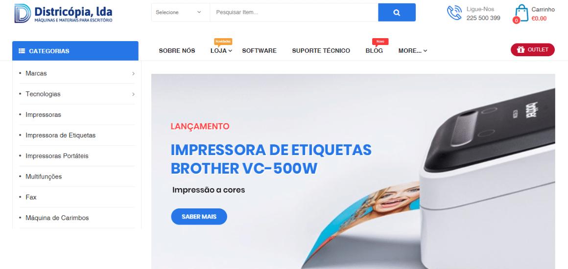 Loja online Districópia um projeto disruptivo em equipamentos de escritório-digitalgreen